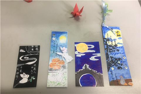中秋月明夜,佳节纪念时 我校初二学生制作中秋书签文化活动